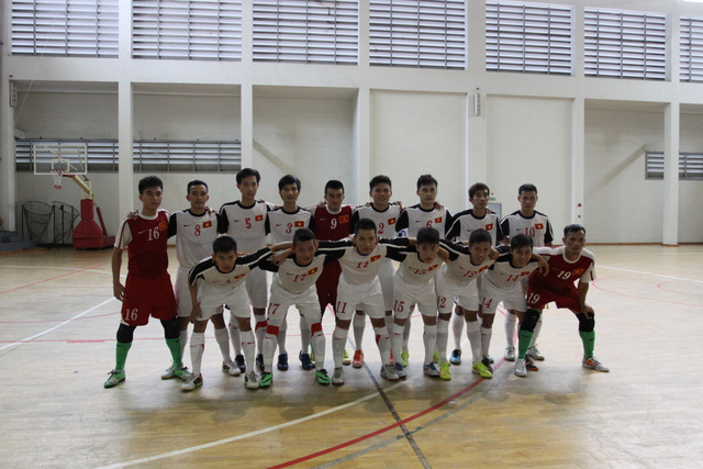 Đội tuyển futsal Việt Nam (Ảnh: Anh Tú)
