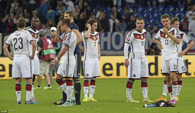 Đội tuyển Đức tiếp tục gây thất vọng