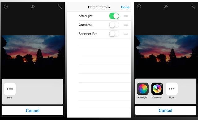 Các bước cài đặt tiện ích chỉnh sửa ảnh trên iOS 8