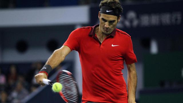 Federer đã có nhiều pha lên lưới, bỏ nhỏ rất hay trong trận này