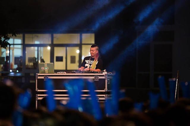 Tiết mục của DJ Wang Trần.