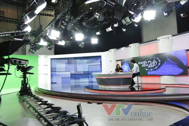 Chuyển động 24h được ghi hình tại trường quay hiện đại nhất của VTV.