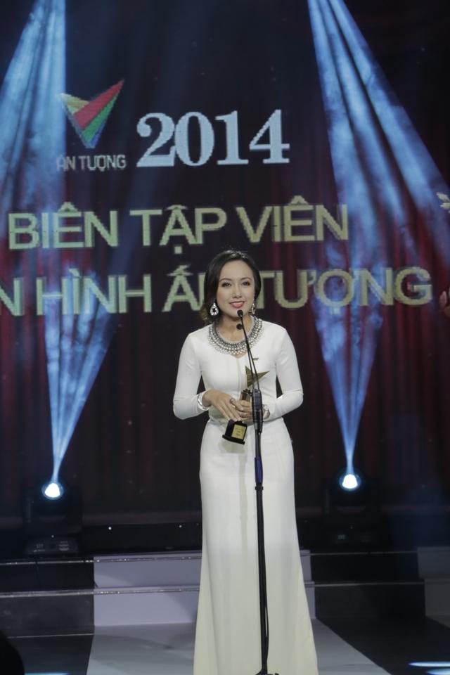 Giải thưởng được trao cho BTV Hoài Anh của Ban Thời sự Đài THVN.