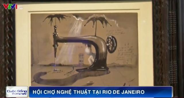 Một tác phẩm tạiHội chợ nghệ thuậtArtRio, Brazil.