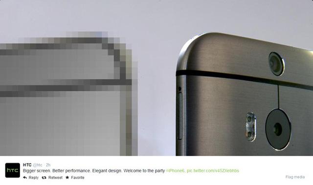 HTC công khai so sánh HTC One M8 với iPhone 6