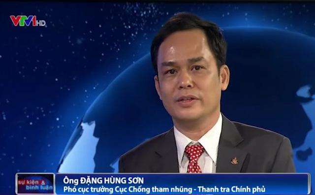 Ông Đặng Hùng Sơn - Phó cục trưởng Cụ chống tham nhũng, Thanh tra Chính phủ