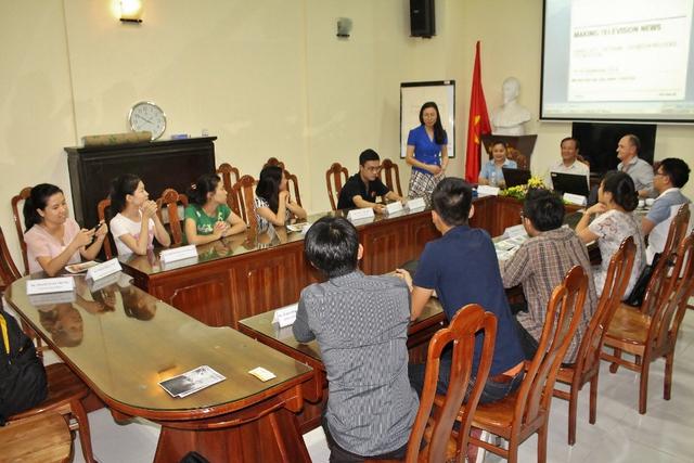 Lễ bế giảng khóa học dành cho phóng viên VTV và một số cơ quan báo chí ASEAN do Đài THVN và quỹ Thompson Reuter tổ chức.
