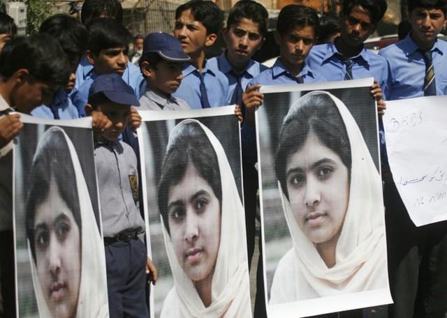 Cô gái Pakistan giành giải Nobel Hòa bình 2014, Malala Yousafzai, bày tỏ đau buồn trước thông tin về vụ thảm sát tại Peshawar. (Ảnh: Reuters)