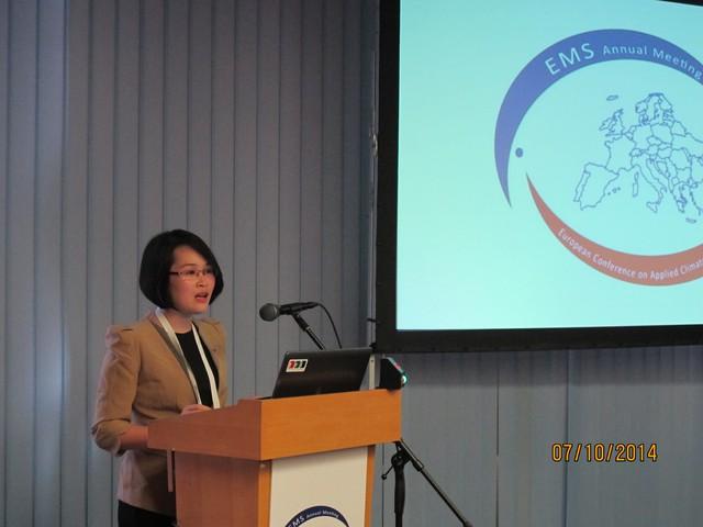 BTV Thảo Linh thuyết trình tại Lễ trao giải TV Weather Forecast