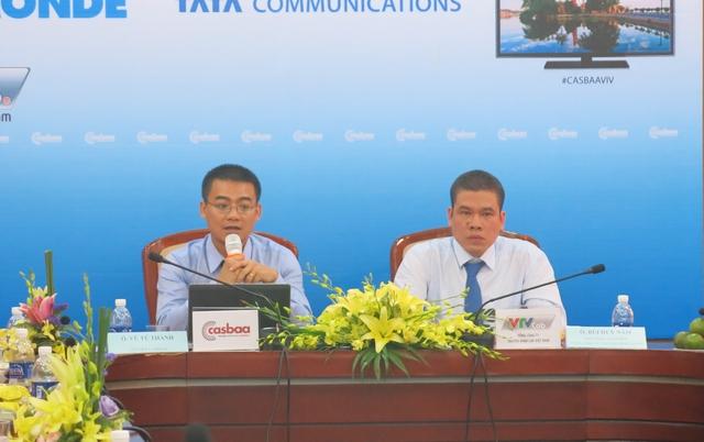 Ông Vũ Tú Thành và ông Bùi Huy Năm chủ trì buối họp báo (Ảnh: VTV News)