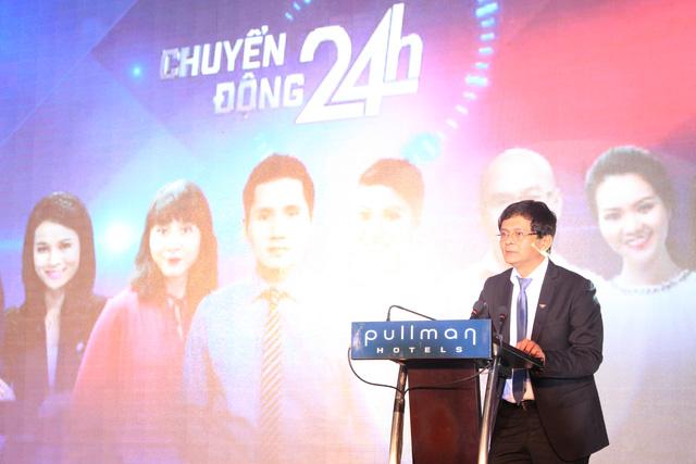 Ông Trần Bình Minh - Tổng Giám đốc Đài THVN tại buổi họp báo ra mắt chương trình Chuyển động 24h