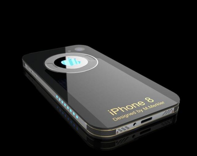 Mặt sau mẫu thiết kế iPhone 8 của M. Merkler