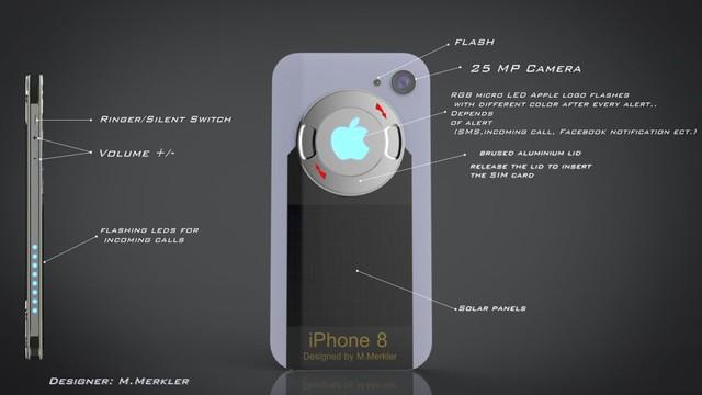 Mặt sau của mẫu thiết kế có camera với độ phân giải 25 MP, đèn flash trợ sáng