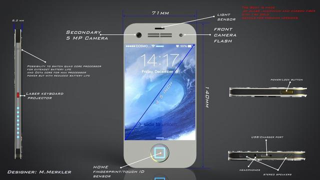 Mẫu thiết kế được trang bị camera trước có độ phân giải 5 MP, tích hợp cảm biến ánh sáng