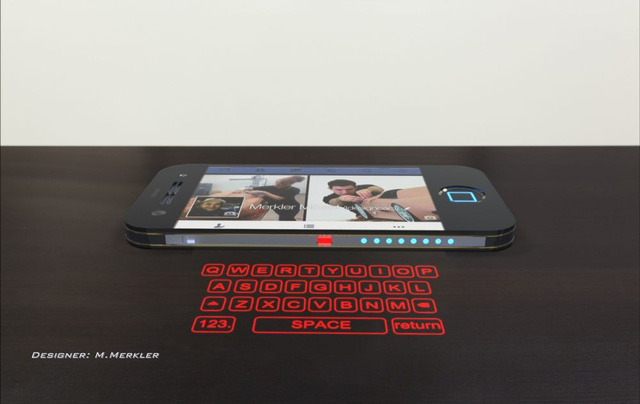 Mẫu thiết kế iPhone 8 sở hữu bàn phím laser đặc biệt
