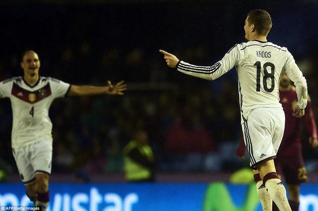 Toni Kroos ghi bàn thắng duy nhất cho đội tuyển Đức