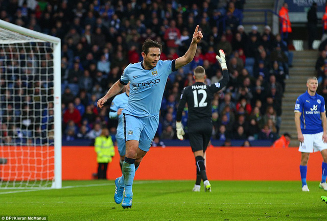 Lão tướng Lampard ghi bàn duy nhất giúp MC có 3 điểm khó nhọc.
