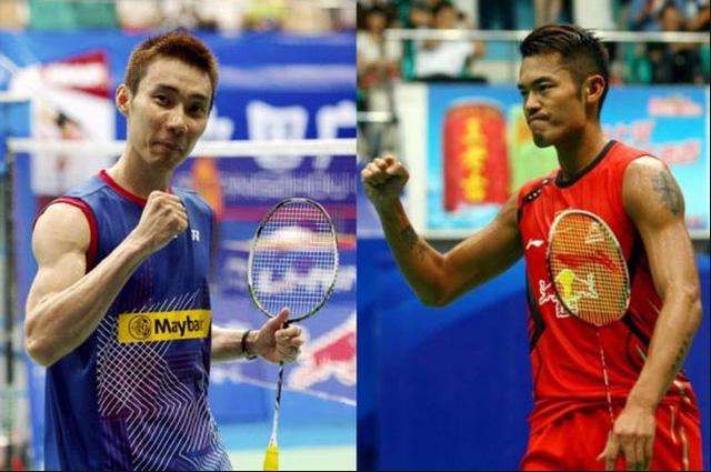 Lee Chong Wei (số 1 thế giới) và Lin Dantay, vợt vừa vô địch ASIAD 17