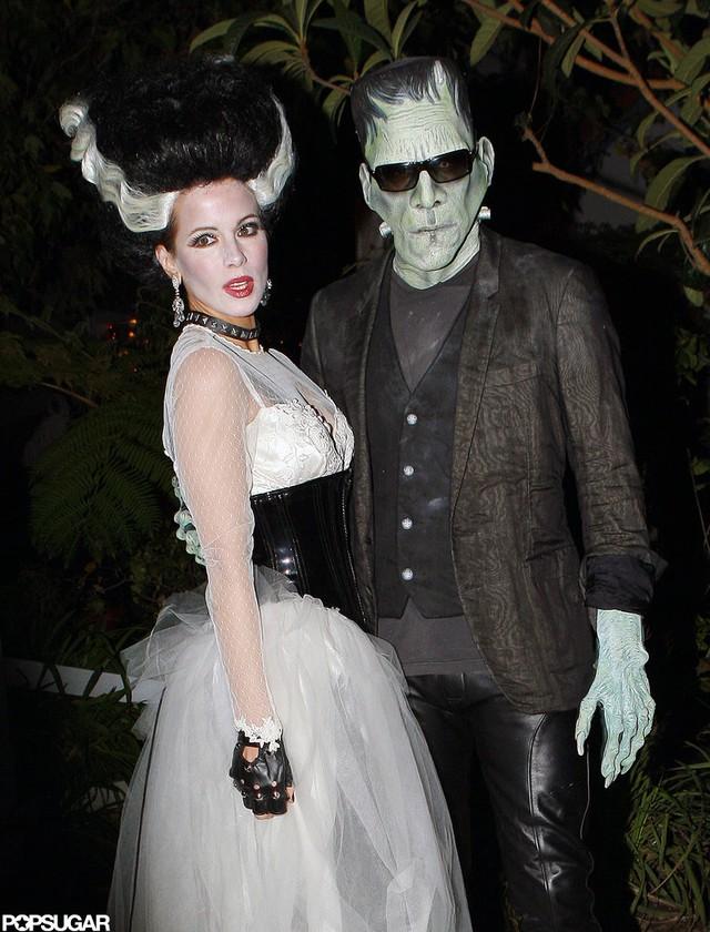 Hai diễn viên Len Wiseman và Kate Beckinsale trong lốt vợ chồng Frankenstein