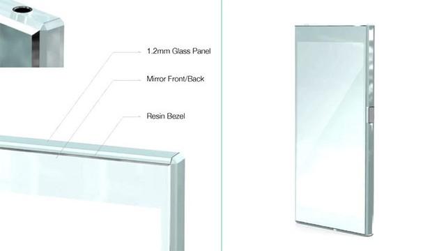 Thiết kế phác thảo chiếc Xperia Z4 với đường viền nhựa và mặt kính ốp lưng