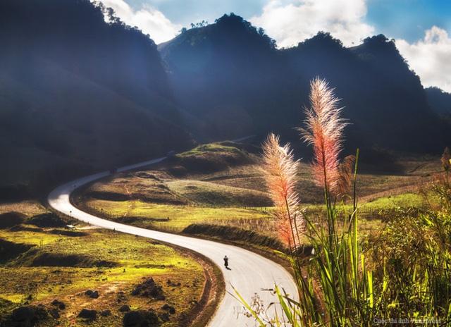 Du khách có thể bắt gặp những con đường quanh co ở khắp mọi miền trên dải đất Việt Nam, nơi có địa hình đồi núi chiếm 3/4 diện tích. Với cảnh núi đồi trập trùng, biển xanh mênh mông hay làng mạc và ruộng đồng bát ngát... hai bên đường. Sau mỗi hành trình khám phá du khách trở về chắc chắn sẽ có những hình ảnh đẹp. (Tác giả: Ngô Quang Huy)