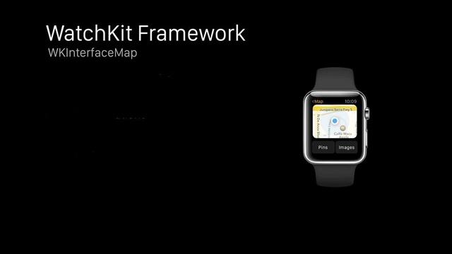 Apple Watch sử dụng bản đồ tĩnh