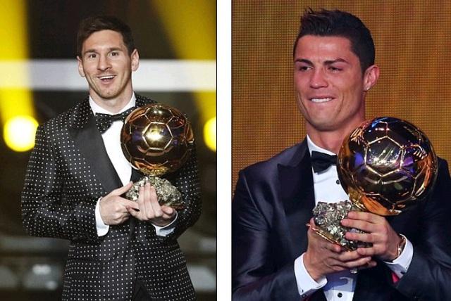 Messi và Ronaldo là chủ nhân của cả 6 danh hiệu QBV FIFA gần nhất.