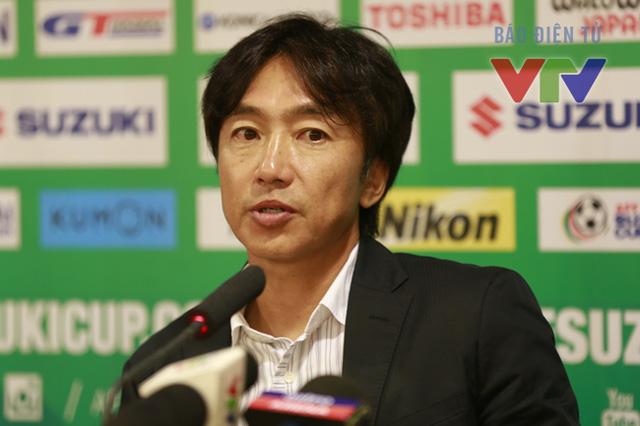 HLV Miura khá kiệm lợi nhưng khẳng định ĐTVN sẽ dốc toàn lực tấn công (Ảnh: VTV News)