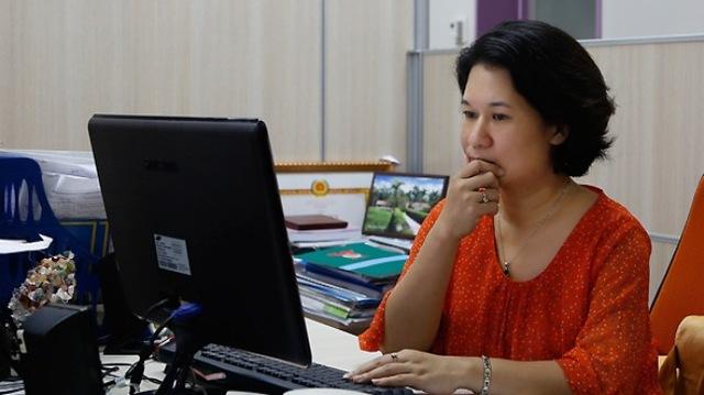 Nhà báo Thu Hà - người theo sát sự kiện MH370 (Ảnh: Quang Phát)
