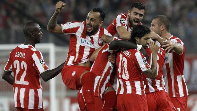 Olympiakos vừa có chiến thắng ấn tượng trước Á quân Champions League mùa trước - Atletico Madrid.