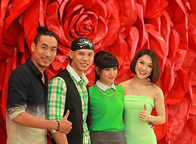 Phan Đinh Tùng và diễn viên Cát Phượng, Kiều Minh Tuấn và ca sĩ Thái Ngọc Bích.