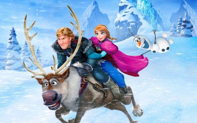 Frozen là phim hoạt hình hot nhất với người tải.