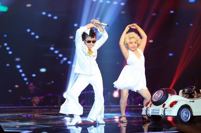 Hoàng Anh thể hiện những bước vũ đạo điêu luyện cùng thí sinh Bước nhảy hoàn vũ nhí trong liveshow 2
