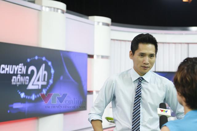 Nhà báo Quốc Khánh - Người dẫn chương trình mang dấu ấn từ Ấn tượng thể thao 7 ngày, sẽ là một trong hai MC chính của Chuyển động 24h.