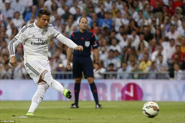 Ronaldo gỡ hòa từ chấm phạt đền