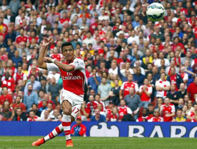 Alexis Sanchez đang thi đấu rất ấn tượng