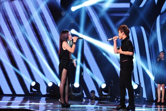 Thái Ngân và Song Tú mở màn đêm Bán kết với ca khúc Just give me a reason