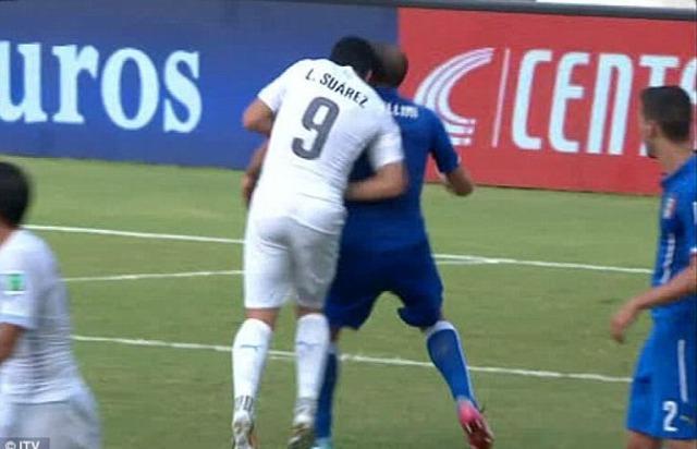 Scandal cắn Chiellini đã khiến Suarez vắng mắt