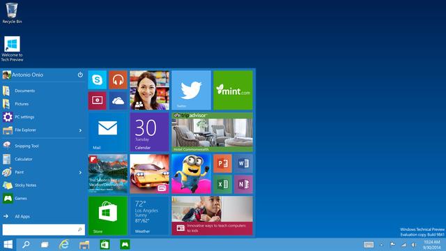 Start Menu trở lại trên Windows 10 với giao diện mới