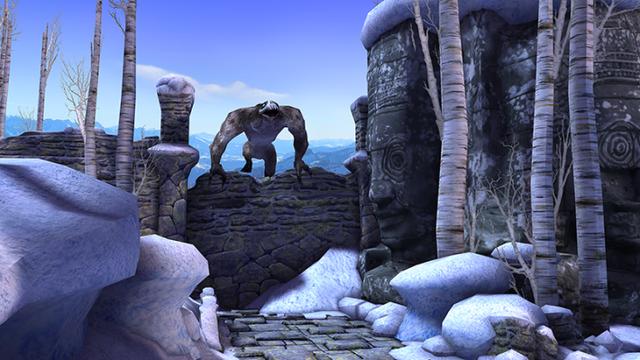 Người chơi sẽ bị rượt đuổi bởi một con khỉ băng thành tinh
