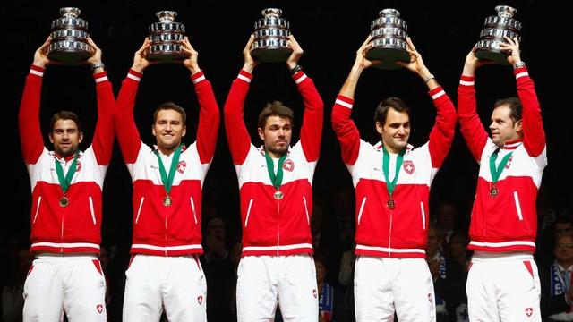 ĐT Thụy Sĩ vô địch Davis Cup 2014.
