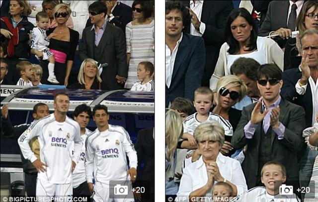 Tom Cruise xuất hiện trên khán đài xem Real Madrid và người bạn thân Becks thi đấu