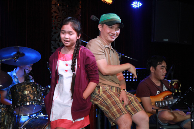Quang Linh và Thiện Nhân luyện tập trước đêm chung kết