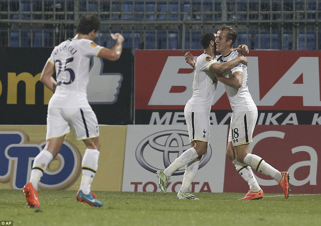 Tottenham Hotspur  có chiến thắng quan trọng tại Europa League