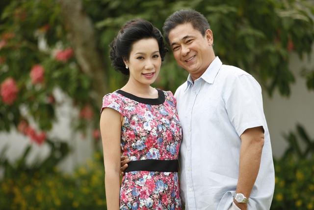 Diễn viên Trịnh Kim Chi và Văn Tùng.