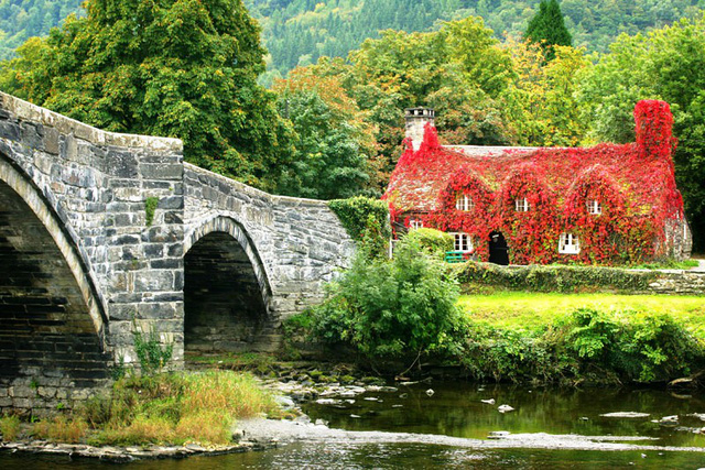 Tu Hwnt Ir Bont Tearoom, Llanrwst, miền Bắc Wales, Vương quốc Anh