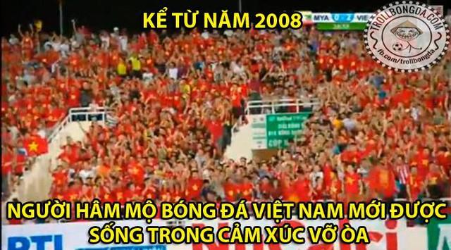 Cảm xúc lâu lắm mới trở lại với người hâm mộ bóng đá Việt Nam.