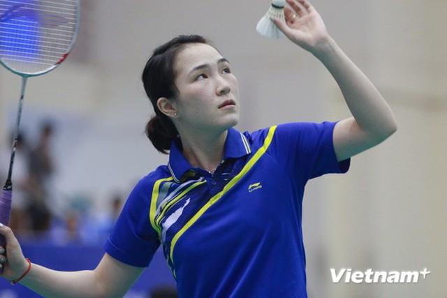 Tay vợt nữ Vũ Thị Trang (Ảnh: VietnamPlus)