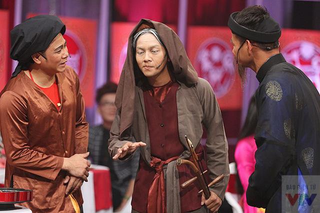 Nghệ sĩ Xuân Bắc, Tự Long và cụ bà Hoài Lâm.