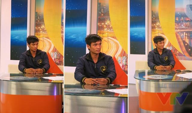Nguyễn Đức Hậu có phần rụt rè khi lên sóng truyền hình
